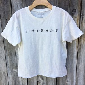 New American Eagle Friends Graphic Tee Ivory S